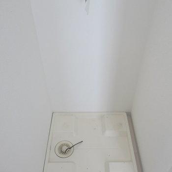 洗濯機はこちらへ〜※写真は9階の反転間取り別部屋のものです