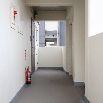 共用廊下は普通・・・
