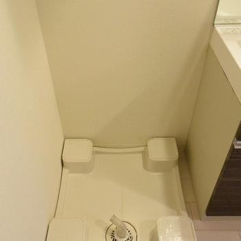 洗濯機は洗面台の横に置きましょう