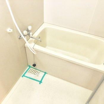 お風呂は明るく、清潔感があります。