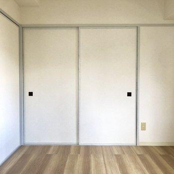 【洋室①】押し入れの面影が残る収納。