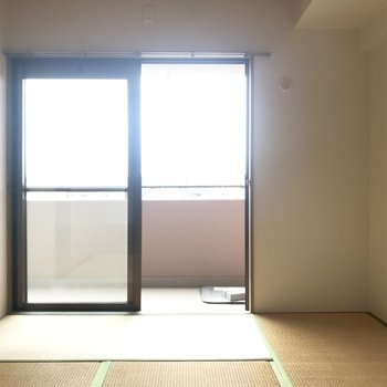 畳の上でダラダラしながらTVを見たい。※写真は3階の反転間取り別部屋、一部工事中のものです