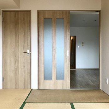 やっぱり1部屋和室があるだけで落ち着けるな。※写真は3階の反転間取り別部屋、一部工事中のものです