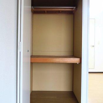収納がとってもコンパクトだけどね。※写真は7階の同間取り別部屋のものです