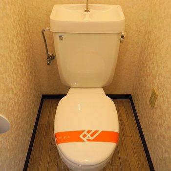 トイレもシンプルなデザイン。※写真は7階の同間取り別部屋のものです