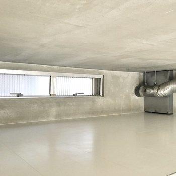 天井が低いので収納スペースにするのがオススメです。