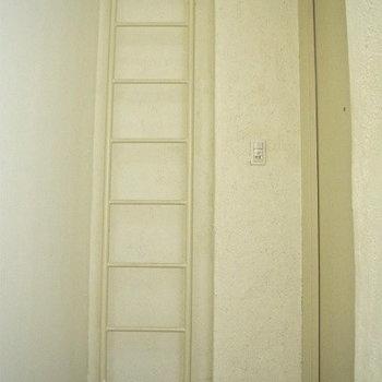 玄関にハシゴ?※写真は3階の同間取り別部屋のものです