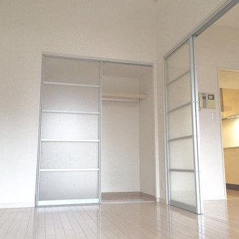 仕切り扉を有効活用してみて! ※写真は5階の同間取り別部屋のものです