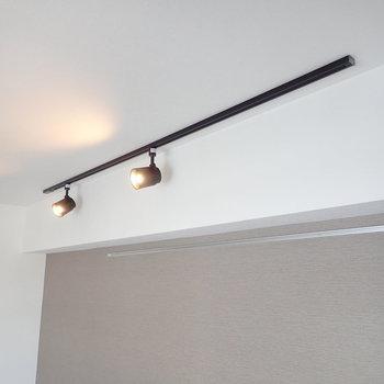 ライティングレールなので、インテリアの合わせて照明を増やしてみましょう。※写真は7階の同間取り別部屋のものです