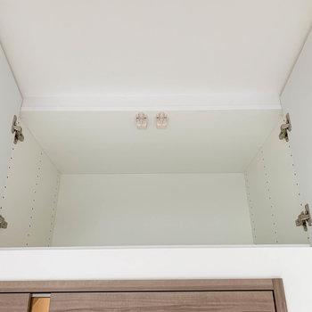 扉上にもさりげなく収納があります。※写真は4階の同間取り別部屋のものです