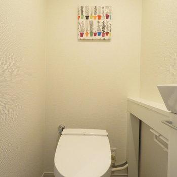 トイレの横にはすこしの空間
