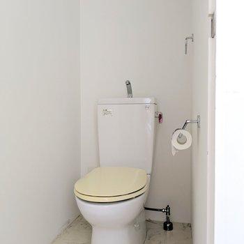 下階のトイレ。シンプルです。(※写真は前回募集時の清掃前のものです)