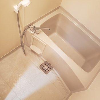 シンプルイズベスト。深めの浴槽でどっぷり浸かりましょう。