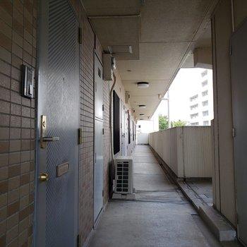 こちら共用部の廊下
