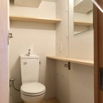 脱衣所にトイレ