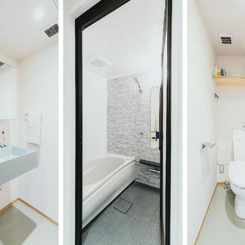 水回りも清潔にリノベーションされています。※家具はサンプルです