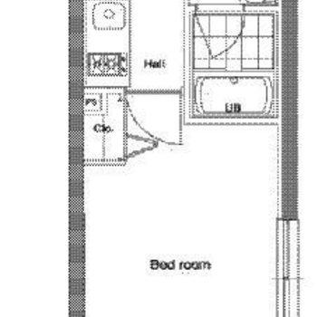 風呂トイレ別の1Kのお部屋。