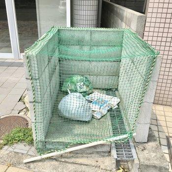 共用部】ゴミ捨て場はマンションの前に。