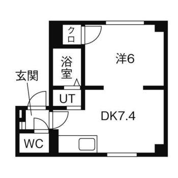 快適に一人暮らしができる1DKのお部屋。