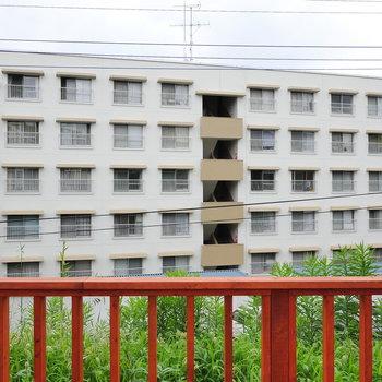 【バルコニー】眺望はお向かいの建物。