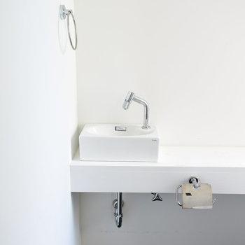 手洗い場も横についています