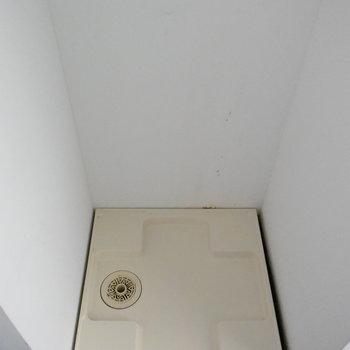 洗濯機置場も室内に
