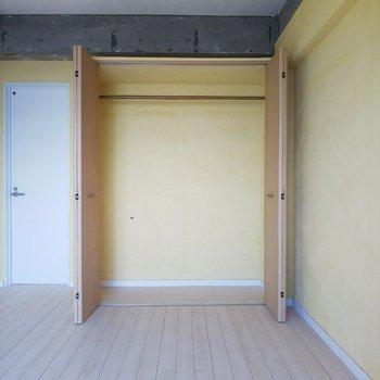クローゼットはこんな感じ。一人で暮らすのには十分なサイズです。