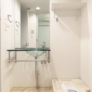 水回りは清潔感ある空間。
