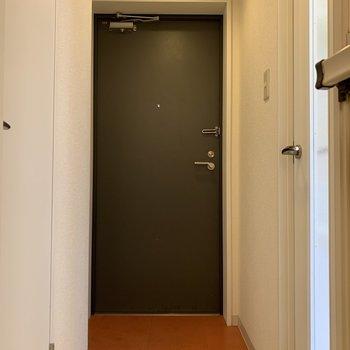 コンパクトな玄関※写真はクリーニング前のものです