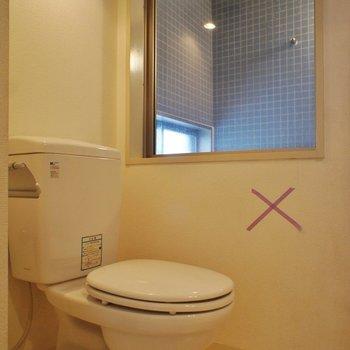 トイレは個室じゃない※写真は3階の反転間取り別部屋のものです