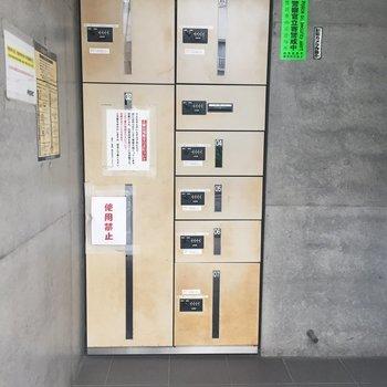 ひとり暮らしのお助けアイテム・宅配ボックスも発見。