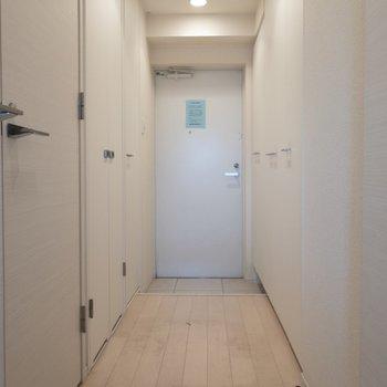 廊下から玄関です※写真はクリーニング前のものです