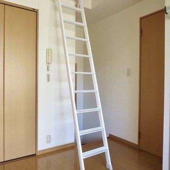 はしごを上ってロフトへ