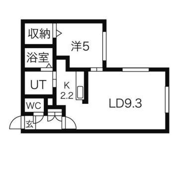2人暮らし可能な1LDKのお部屋です。