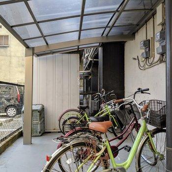 駐輪スペースもありました。