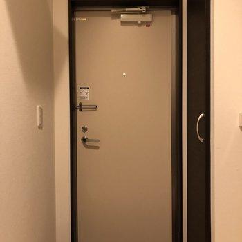 清潔感のある玄関。