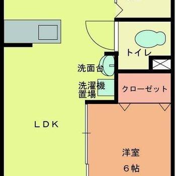 左上はキッチンスペース。ここも広い!