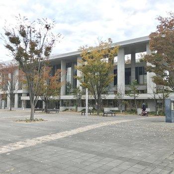 図書館のある「なみきスクエア」。