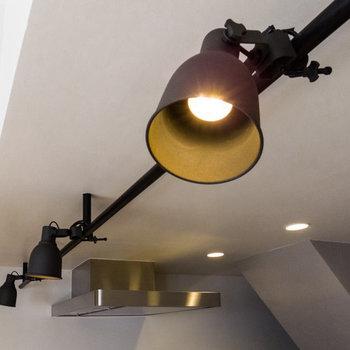 デザイン性の高いスポットライトを採用しています。