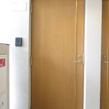 玄関ドアはこんな感じ。 (※写真は8階のものです)