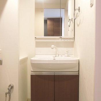 洗面台も文句なしの大きさ〜♪ (※写真は3階同間取り別部屋のものです)