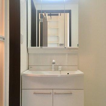 洗面台は収納力ばっちり。
