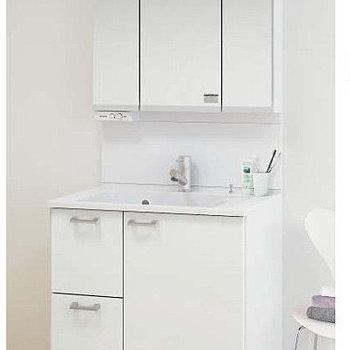 【完成イメージ】シャンプドレッサー付きの広めの洗面台を新たに設置