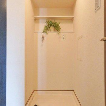 洗濯機はもちろん室内置き。(※写真は3階の同間取り別部屋、モデルルームのものです)