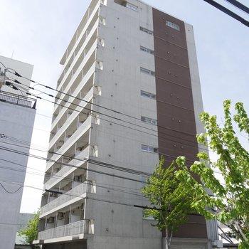 外観もかっこいいんだな〜!10階建てです。