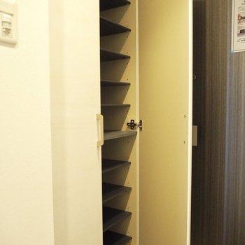 たくさん靴を持っていても大丈夫※写真は5階の同間取り別部屋のものです