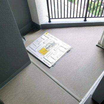 三角形をしています。※写真は12階の同間取り別部屋のものです