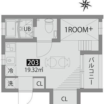一人暮らしに適したワンルームです。