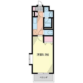 居室とキッチンが分かれているのがうれしい。