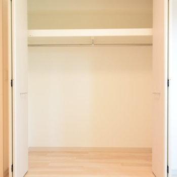 洋室には季節物の家電もしまえそうな大きめのクローゼット(※写真は7階の同間取り別部屋のものです)